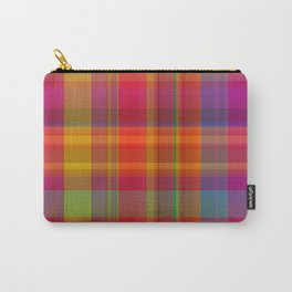 Plaid, hot colors Carry-All Pouch