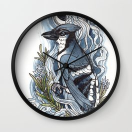 Moon and Smoke Wall Clock