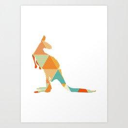 Kangaroo Capers Art Print