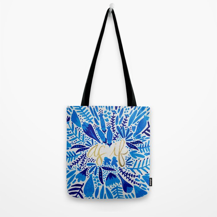 As If – Navy & Gold Tote Bag