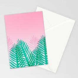 So Fine - palm springs desert plants indoor tropical oasis nature neon memphis throwback 1980s style Stationery Cards