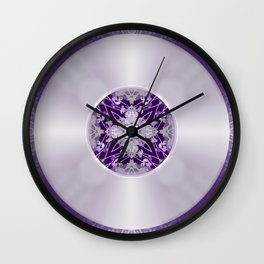 Vinyl Record Illusion in Purple Wall Clock