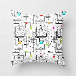 Piet Mondrian Throw Pillow