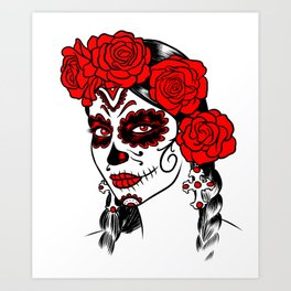 Day of the dead makeup Art Print