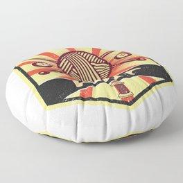 Knitting Propaganda | Knit Wool Hobby Floor Pillow