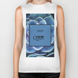 Princess and Queen succulents Biker Tank