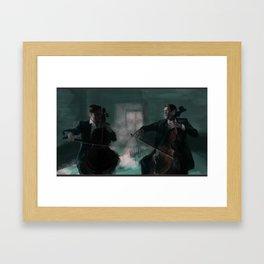 2 Cellos Framed Art Print