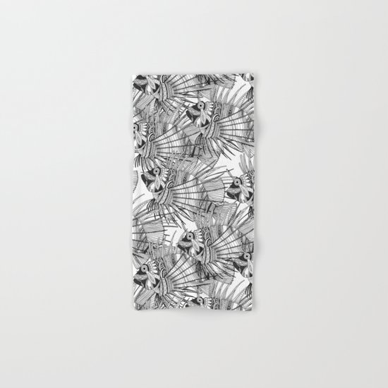 fish mirage black white Hand & Bath Towel