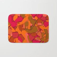 red camouflage Bath Mat