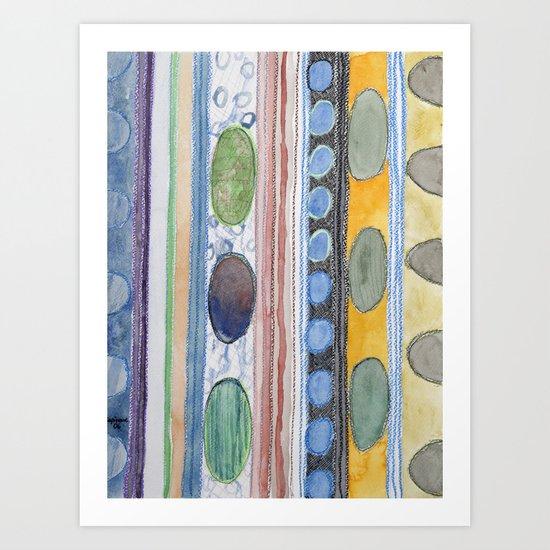 Serene Stripes Art Print