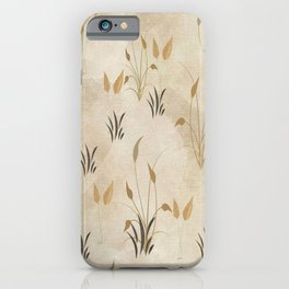 Lovely Botanical Leaves in Taupe iPhone Case