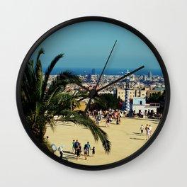 Barcelona view Wall Clock