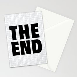 The End Black Stationery Cards
