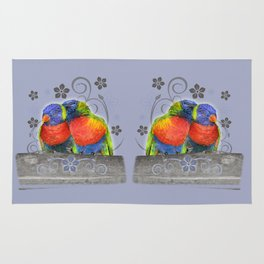 Two birds in love Rug