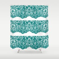 lace Shower Curtains featuring Lace by reesebloomdesigns