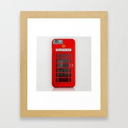 RED TELEPHONE BOX BOOTH PHONE BOX Framed Art Print