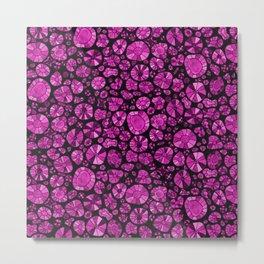 Barca Dots Pattern pink/black Metal Print