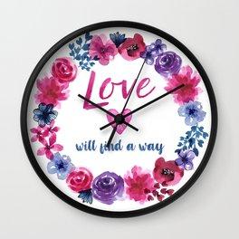 LOVE will find a way Wall Clock