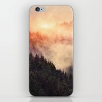 silver iPhone & iPod Skins featuring In My Other World by Tordis Kayma
