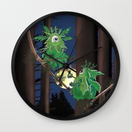Lichens Beings Wall Clock