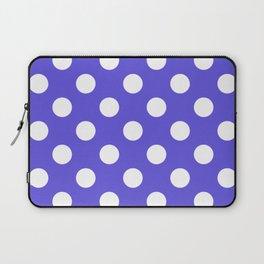 Majorelle blue - blue - White Polka Dots - Pois Pattern Laptop Sleeve