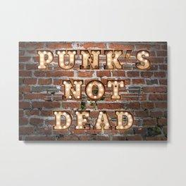 Punk's not Dead - Brick Metal Print