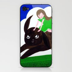 Rabbit Girl iPhone & iPod Skin