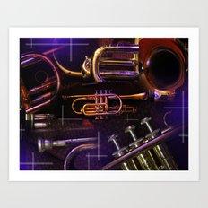 The Trumpet Glow Art Print