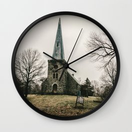 Abandoned Rural Church Wall Clock
