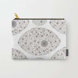 Black & White Floral Carry-All Pouch