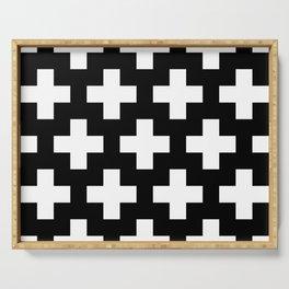 black-and-white pattern Yakshi Serving Tray
