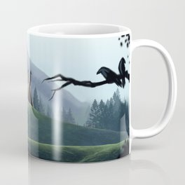 Viking Village in the Forest Coffee Mug