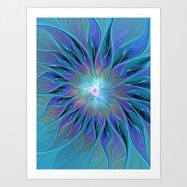 Decorative Flower Fractal Art Print