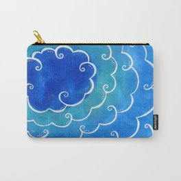 Silver linings on blue Carry-All Pouch