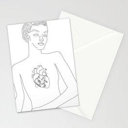 Feminine Heart Stationery Cards