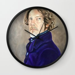 Self Portrait as Delacroix Wall Clock