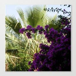 Green Purple Vegetation Canvas Print