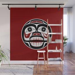 Northwest Pacific coast Haida Weeping skull Wall Mural