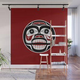 Northwest Pacific coast Haida Weeping skull Wall Mural