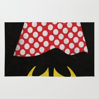 minnie Area & Throw Rugs featuring minnie mouse minimal grunge... by studiomarshallarts