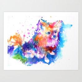 Pop Art Pomeranian Art Print
