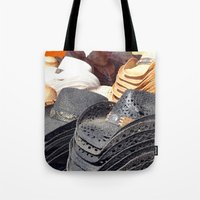 hats Tote Bags featuring Cowboy Hats by Tiffany Dawn Smith