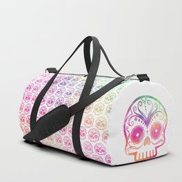 "Custom Design Modern Sugar Skull (""Calavera"") Duffle Bag"