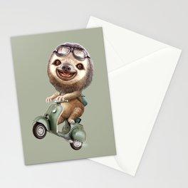 RUNAWAY SLOTH Stationery Cards