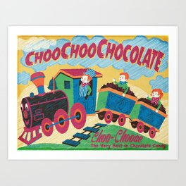 Choo Choo Chocolate Art Print