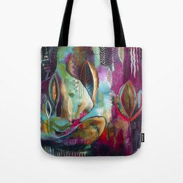 """""""Held and Healed"""" Original Painting by Flora Bowley Tote Bag"""