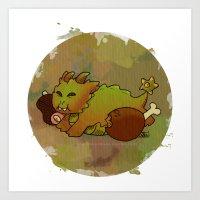 Little Sin Dragon - Gluttony Art Print