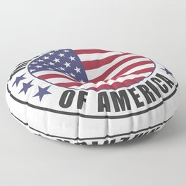 The United States of America - USA Floor Pillow