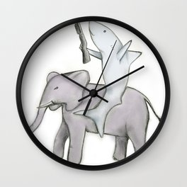 Shark with a Shotgun and the Elephant Wall Clock