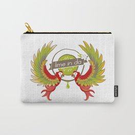 Lime in the coconut and two scarlet macaws. Carry-All Pouch